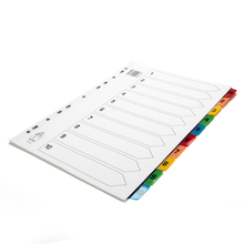 A4 Mylar 1-10 Index File Dividers  medium