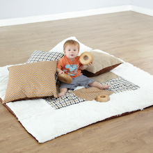 Baby Texture Blanket and Cushions Neutral Colours  medium