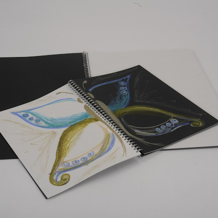 Pisces Black and White Spiral Sketchbooks A3 100gsm  large