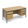Two \x26 Three Drawer Desk  small