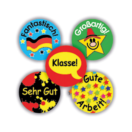 German Mini Reward Stickers 605pk  large
