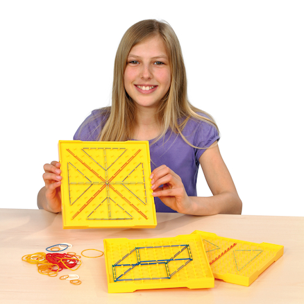 Double\-Sided Stackable Isometric Geoboard  large