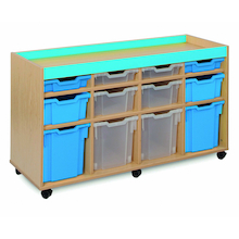 Bubblegum 12 Mixed Tray Storage Unit  medium