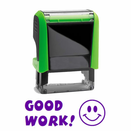 Self Inking Marking Stamps Good Work!  large
