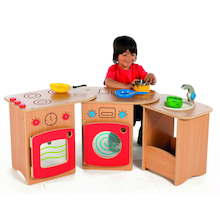 Wooden Pack Away Toddler Role Play Kitchen  medium