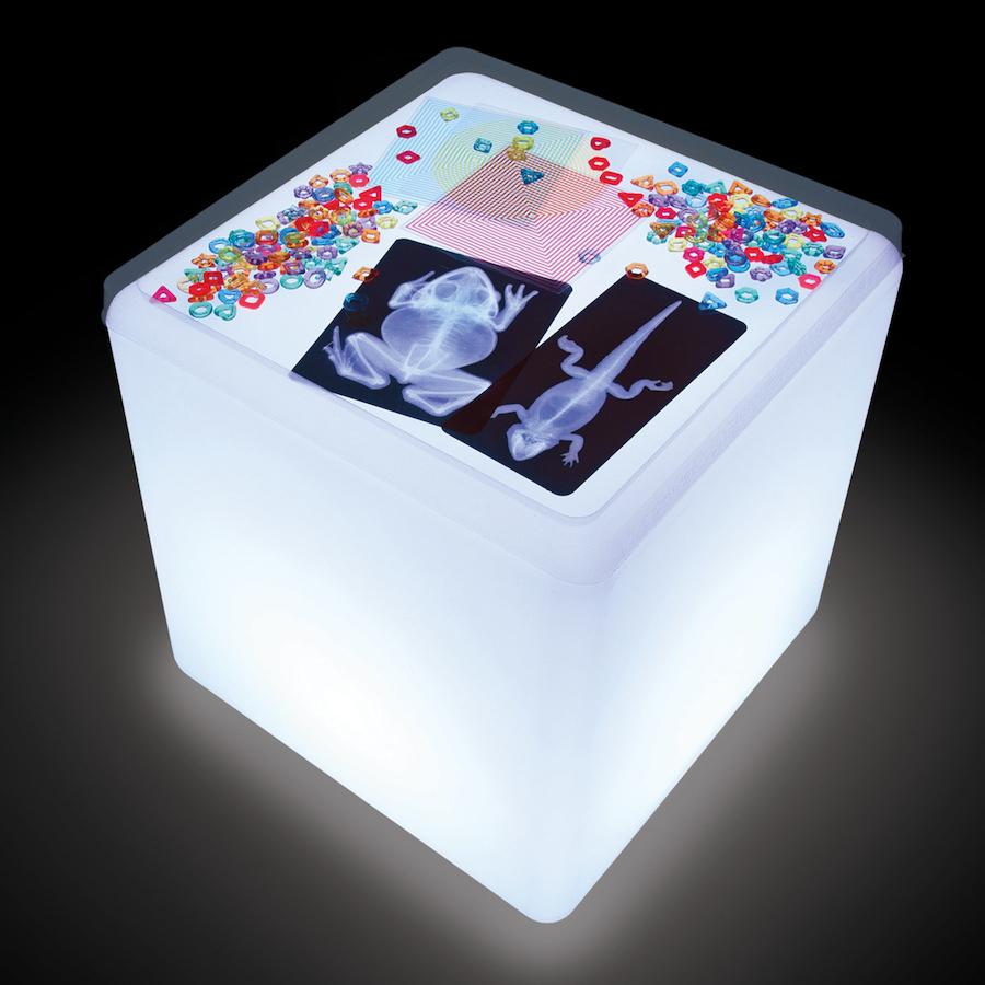 Buy Sensory Colour Changing Light Cube Table Tts