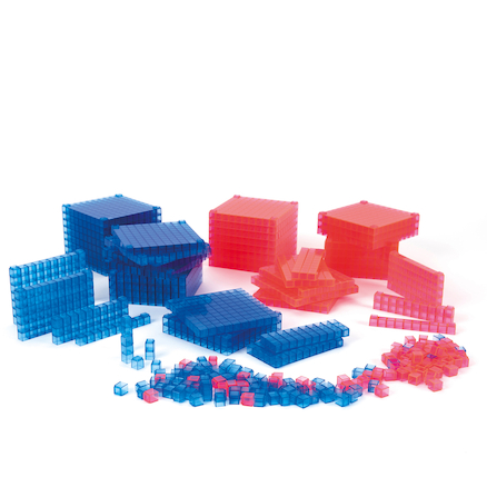 Base Ten Transparent Interlocking Class Set  large