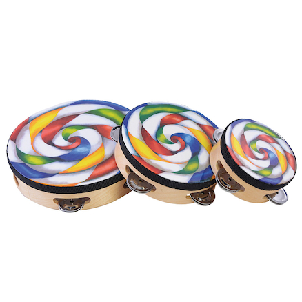 Candy Tambourines 6pk  large