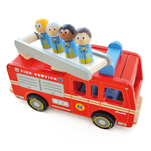 Toddler Wooden Small World Fire Engine  medium