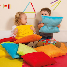 Bright Coloured Soft Cushions 10pk  medium