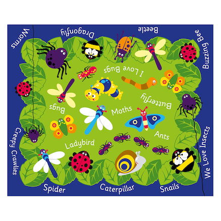 Back to Nature Minibeasts Outdoor Mat  large