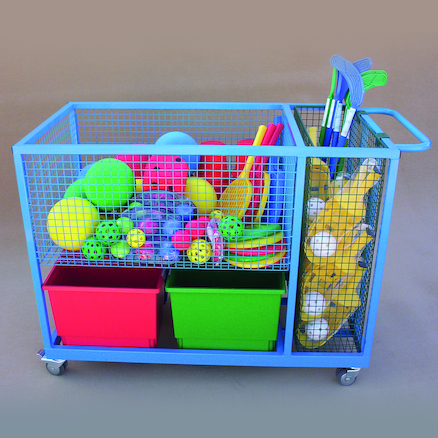 Heavy Duty Sports Storage Trolley  large