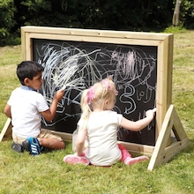 Outdoor Double Sided Chalkboard in Wooden Frame  medium