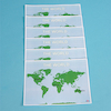 World Laminated Desk Mats A3 6pk  small