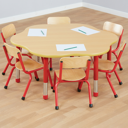 Copenhagen Flower Shaped Classroom Table  large