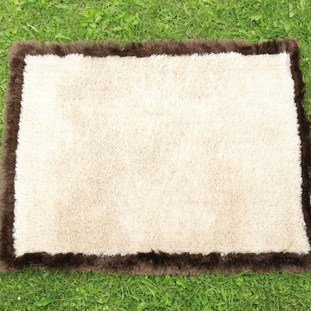 Soft Brown and Cream Outdoor Carpet W80 x L100cm  large