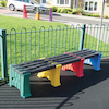 Recycled Plastic Multicoloured Bench  small