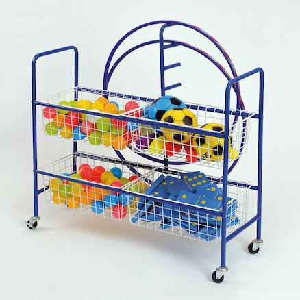 Four Basket Storage Trolley  large