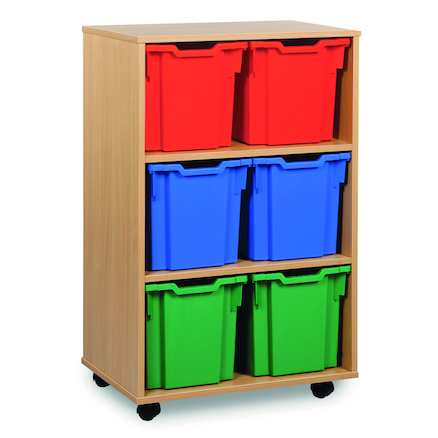 Mobile Tray Storage Unit With 6 Jumbo Trays 2x3  large
