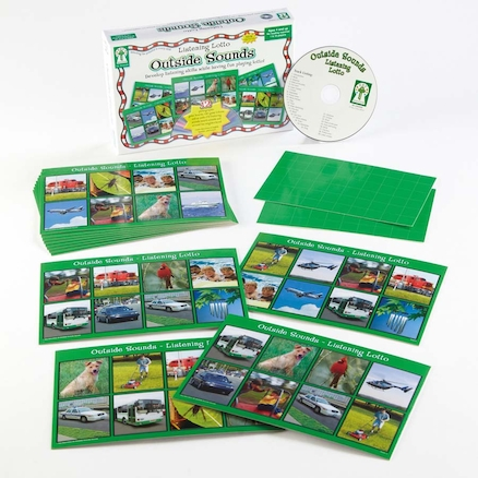 Listening Lotto Game with Audio CD and Cards  large