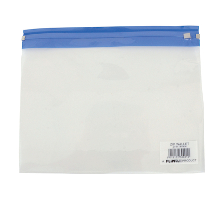 Clear Zip Wallets Pack of 25  large
