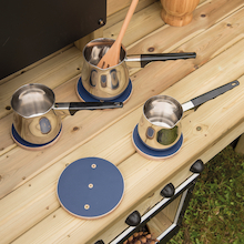 Stainless Steel Saucepan Collection 3pcs  medium