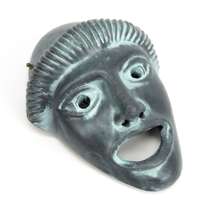 Greek Theatrical Masks Resin Replicas 15 x 10cm  large