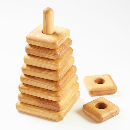 Giant Square Wooden Stacking Pyramid  large