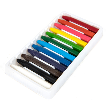 TTS Assorted Plastic Crayons  large