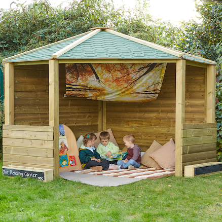 Wooden Outdoor Play Corner Cottage  large