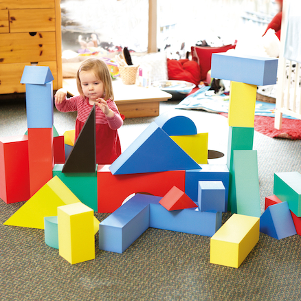 Giant Foam Colourful Blocks 32pcs  large