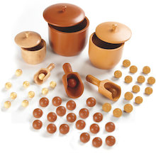 Wooden Sorting Bowls, Counter and Spoon Set 54pcs  medium