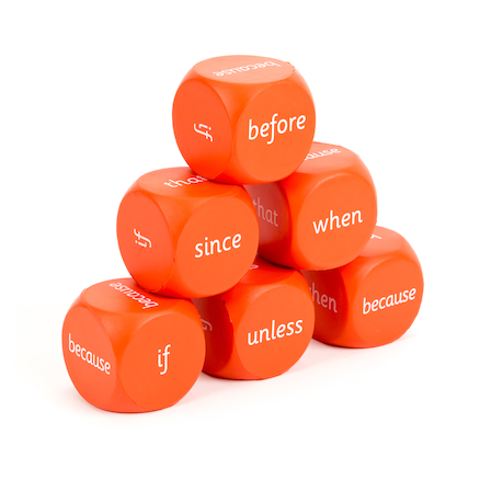 KS1 Conjunctions Dice  large