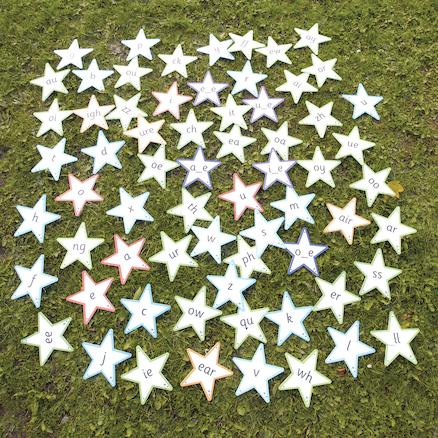 Letter \x26 Sounds Outdoor Stars  large