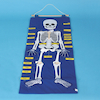 Fabric Skeleton Wall Hanging  small