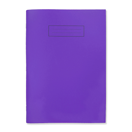 Polyprop Notebook A4, lined with margin Purple  large