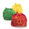 Fabric Alphabet Letter Bags 26pk 31 x 30cm  small