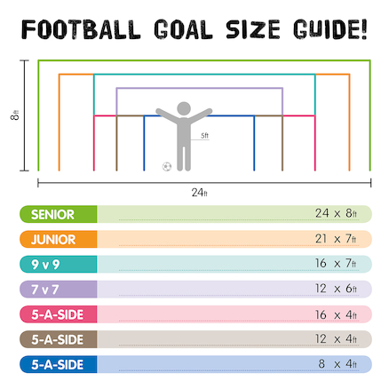 Steel Socketed Football Goals \- Pair  large