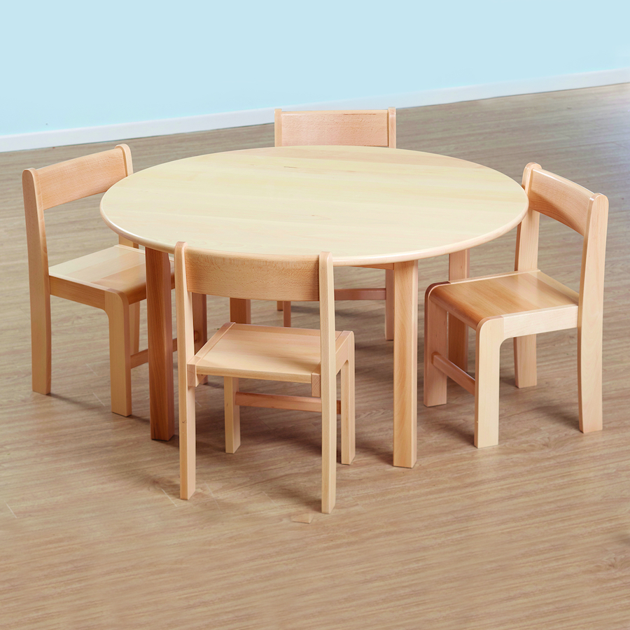 Solid Beech Circular Table and Chairs Set & Buy Solid Beech Circular Table and Chairs Set | TTS
