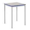 Fully Welded Tables Coloured Edge Square   small
