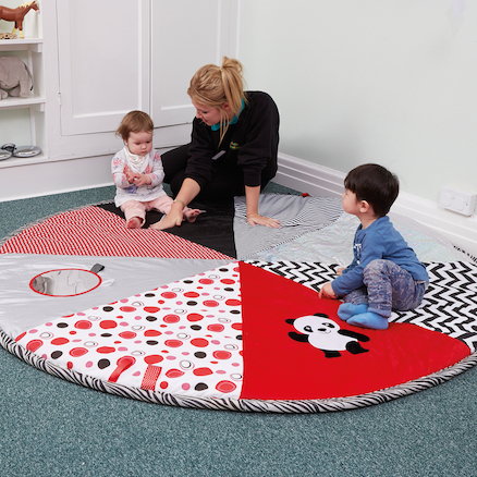 Black and White Pop Up Play Mat  large