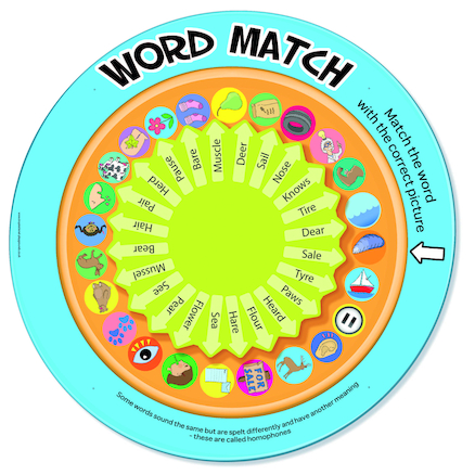 Word Match Spelling Spinner Game  large