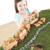 Wooden Toddler Train with Building Blocks  small