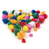 Craft Glitter Pom Poms 100pk  small