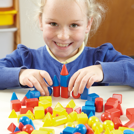 Coloured Small Solid Shapes 96pk  large