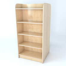 Double Sided Library Bookcase In Maple  medium