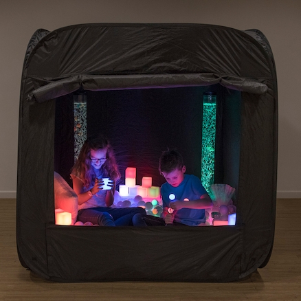 Pop\-Up Sensory Space Black  large