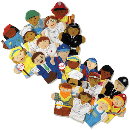 Role Play Career People Hand Puppets 10pcs  large