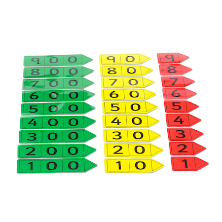 Coloured Magnetic Place Value Arrows Hundreds  large