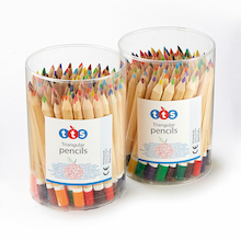 TTS Triangular Assorted Colouring Pencil Tubs  medium